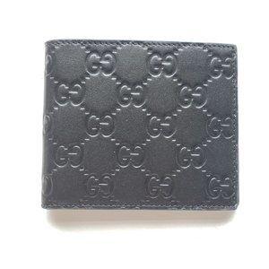 Gucci Signature Guccissima Leather Wallet - Black